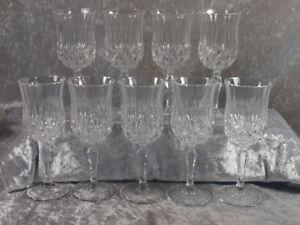 Glashütte Italien schweres Bleikristall 9x Weinglas Römer Weinkelch RCS