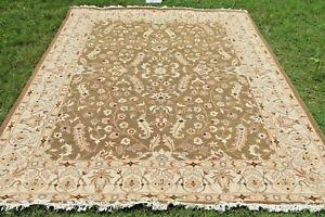 Soumak Flat-Weave Floral Turkish Kilim Afghan Oriental Area Rug 9x12 ft Carpet