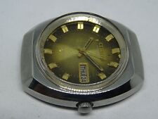 *CITIZEN AUTOMATIC DAY&DATE GOLDEN COLOR ORIGINAL DIAL GOLDEN FIGURE RUN ORDER