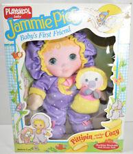 Vintage 1986 PLAYSKOOL JAMMIE PIES PITTIPIN AND COZY LAMB Plush Doll W/ BOX RARE