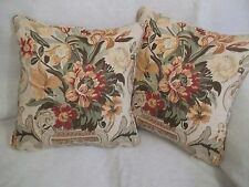 "Aylesbury Vase Schumacher 1 Pair of 18""cushion Covers Double Sided & Piped"