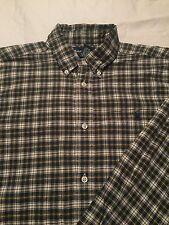 Ralph Lauren Boys Long Sleeve Button Up shirt Size Xl 18-20 Blue Green Yellow