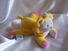 Doudou lion jaune, crème, rose, aimanté, Bébé Confort