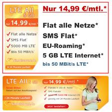 Handyvertrag mit Internet Flat LTE 5 GB Handy Allnet Flat mit Vertrag ohne Handy