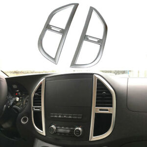 fits Mercedes Benz Vito Valente 2014+ Matte Front Center Console Air Vent Cover