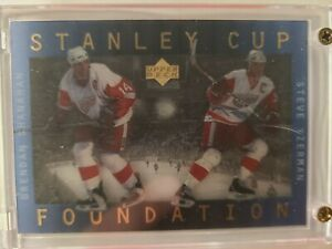 1996-1997 Upper Deck Ice Stanley Cup Foundations- Yzerman/Shanahan
