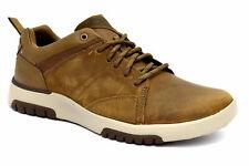 SKECHERS 66323 DSRT Cuoio Scarpe Sneakers Casual Pelle Lacci Memory Foam Uomo
