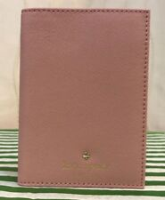 KATE SPADE MIKAS POND PINK BONNET LEATHER PASSPORT HOLDER - NEW WITH TAGS!