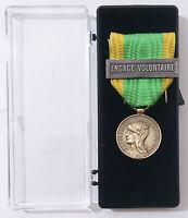 Médaille des engagés volontaires ENGAGE VOLONTAIRE Guerre 1870-1871 & 1914-1918