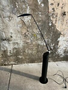 Vintage Black Mario Barbaglia Italian Dove Reading Swivel Floor Modern Lamp