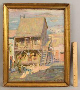 Antique JOSEPH SACKS San Francisco California Impressionist Fauvist Painting, NR