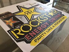 New Rockstar Energy Drink Decal Sticker Floor or Window Graphics / Signs