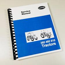 Long 2360 2460 2510 Tractor Service Repair Shop Manual Technical Shop Book