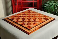 """Cocobolo & Maple Burl Signature Contemporary III - 2.5"""" Luxury Chess Board"""