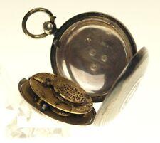 Rar Savonette Spindel Taschenuhr Silber Uhr silver pocket watch clock fusee 1840