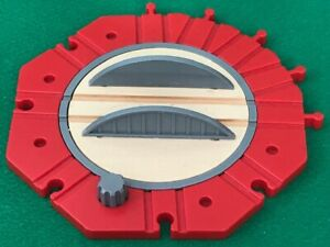 THOMAS  & FRIENDS WOODEN RAILWAY HUGE TRAIN 10 POINT TURNTABLE FOR BRIO SHED SET