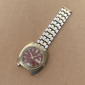 Vintage Seiko 7006-7007 Automatic Day-Date Watch Parts Repairs Gold Tone