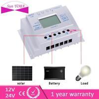 LCD 80A MPPT Solar Panel Charge Controller 12V 24V Battery Regulator W/ USB BN