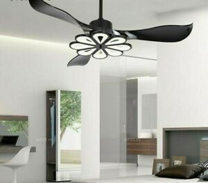 Ceiling Modern Fan Light Round Ventilator Lamp Household Exquisite Flower Decors