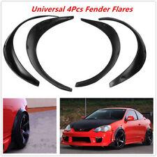 4pcs Black Polyurethane Flexible Exterior Fender Flares For Car Auto Substantial