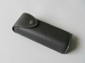 Vertical Waist Case for Glasses, Black PU Leather Case for Glasses