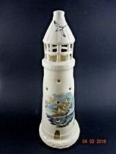 "Victorian Candle Holder Porcelain Gibbs Hill Bermuda Lighthouse 12.5"" Tall"