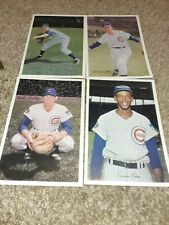 """1971 Chicago Cubs Baseball  Issue Photo Ernie Banks. + 3 others , mint  9"""" x 6"""""""