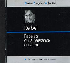 CD album: Guy Reibel: Rabelais. trio le Cercle. MFA. A