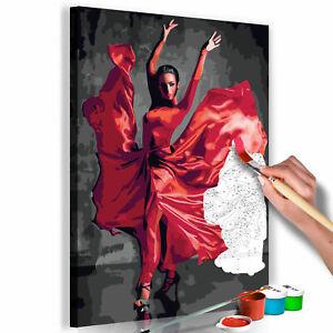 Malset mit Holzrahmen 40x60 Leinwand Erwachsene Gemälde Kit DIY n-A-0469-d-a