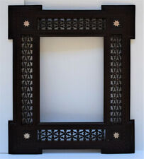 Handcarved  Wood Wall Hanging Decorative Mirror Frame , Moroccan Home Decor