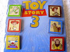Disney * TOY STORY 3 * RETIRED New in Pack 6 Pins Booster Pin Set - Buzz Woody
