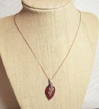M6HG/ Rose Spinel Pendant & Chain Rose Gold Plated