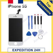 ECRAN IPHONE 5S BLANC VITRE TACTILE + LCD RETINA ORIGINAL SUR CHASSIS + OUTILS