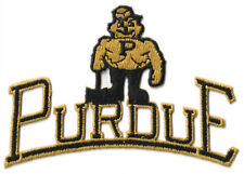 """1990 PURDUE BOILERMAKERS NCAA COLLEGE VINTAGE 4.75"""" TEXT TEAM LOGO PATCH"""