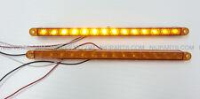 "12"" 14 LED Light Strip Amber/Amber for Kenworth Peterbilt Freightliner FLD Pair"