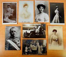 8 Postcards King Italy Emmanuel III Elena Montenegro Drive Auto Children 7 rppc