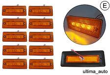 10 12/24v LED Bernstein orange seitenmarkierungsleuchten lampen anhänger