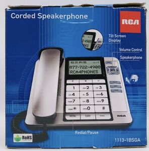 RCA 1-Hand Corded Speakerphone Digital Answering System 1113-1BSGA NEW IN BOX