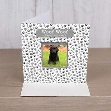 Perro Personalizado Foto Espejo Compacto Navidad/Cumpleaños/Tarjeta De Agradecimiento