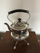 LOVELY SILVER PLATED SPIRIT KETTLE, STAND AND BURNER (J D & S)