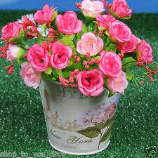 3 Metal Planters Round Pots Garden Flowers Decorative Hydrangea