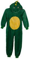 Boys Girls Kids All in One NEW Hooded Pyjamas Green Ages 7-8 Y 9-10Y 11-12Y 13Y