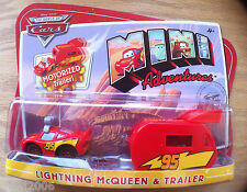 Disney PIXAR World of Cars MINI ADVENTURES Lightning McQueen MOTORIZED TRAILER