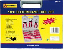 11 PC ELECTRICIAN`S TOOL SET COMES IN CARRYING BOX