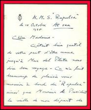 EDWARD VIII Autographed Letter to Mrs. PACINI de ALVEAR