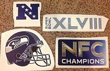 Helmet, Superbowl XLVIII NFC Champions LOT Of 4 Seahawks FATHEAD Wall Graphics