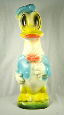 """1930s Carnival Prize Chalkware LARGE 14"""" Donald Duck Doll / Figure"""