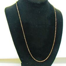 """Milor Italy 14K Gold Rope Chain Necklace 23.5"""""""