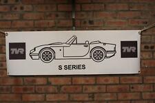 TVR s series s1s s2s s3s v8s 80s 90s   large pvc banner  garage  work shop