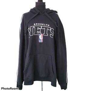 Mens Adidas NBA Brooklyn Nets Basketball Hoodie Sweatshirt 2XL